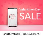 valentine's day sale offer ... | Shutterstock .eps vector #1008681076