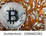 bitcoin coin . new virtual...   Shutterstock . vector #1008682282