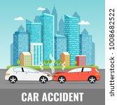 car accident concept. city... | Shutterstock .eps vector #1008682522