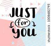 valentine day poster. hand...   Shutterstock .eps vector #1008682795