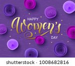 happy international women's day ... | Shutterstock .eps vector #1008682816