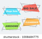 flat linear promotion ribbon... | Shutterstock .eps vector #1008684775