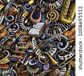 cartoon cute doodles classical... | Shutterstock .eps vector #1008695512