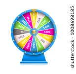 fortune wheel of luck automatic ... | Shutterstock .eps vector #1008698185
