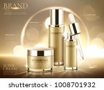 hydrating cosmetic product ads  ... | Shutterstock .eps vector #1008701932