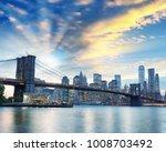 night lights of manhattan  ... | Shutterstock . vector #1008703492