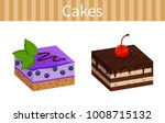 two tasty cheesecakes posters... | Shutterstock .eps vector #1008715132
