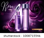 rose cosmetic ads  droplet and... | Shutterstock .eps vector #1008715546