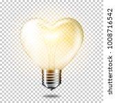 transparent realistic heart... | Shutterstock .eps vector #1008716542