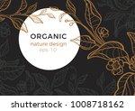 floral vintage template tea... | Shutterstock .eps vector #1008718162