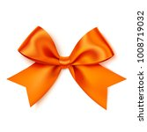 beautiful orange bow for gift...   Shutterstock .eps vector #1008719032