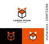 box fox cube geometric logo... | Shutterstock .eps vector #1008723286