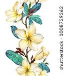yellow plumeria flower on a... | Shutterstock . vector #1008729262