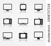 tv icons set | Shutterstock .eps vector #1008737218
