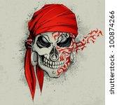 illustration of skull with... | Shutterstock .eps vector #100874266