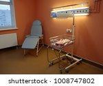 empty bed on newborns hospital... | Shutterstock . vector #1008747802