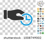 clock properties icon with...