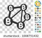 bitcoin network pictograph with ...