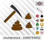 shit mining icon with bonus... | Shutterstock .eps vector #1008754852
