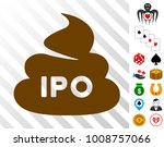 ipo shit icon with bonus gamble ...