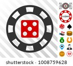 dice casino chip pictograph... | Shutterstock .eps vector #1008759628
