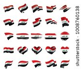 iraqi flag  vector illustration | Shutterstock .eps vector #1008760138