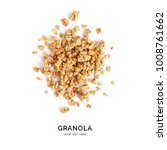 creative layout made of granola ... | Shutterstock . vector #1008761662