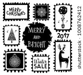 holiday christmas marks. icons  ... | Shutterstock . vector #1008762412