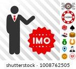 businessman show imo token icon ...