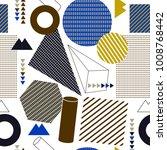 geometric flat pattern | Shutterstock .eps vector #1008768442