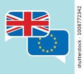 conversation dialogue bubbles... | Shutterstock .eps vector #1008772342