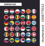 vector circle flags | Shutterstock .eps vector #1008775012