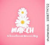 8 march international women's...   Shutterstock .eps vector #1008779722