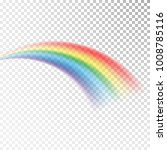 rainbow icon. colorful light... | Shutterstock .eps vector #1008785116