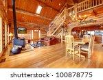 Large Luxury Log House Living...