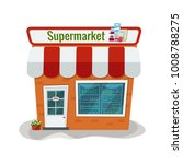 Vector Illustration Of Grocery...