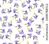 seamless pattern with lilac... | Shutterstock . vector #1008788512