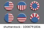 set of 3d badges with american... | Shutterstock .eps vector #1008791836