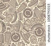 cartoon hand drawn latin... | Shutterstock .eps vector #1008793315