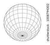 earth planet globe grid of... | Shutterstock .eps vector #1008794302