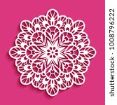round lace doily  decorative... | Shutterstock .eps vector #1008796222