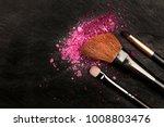 a closeup of a makeup brushes... | Shutterstock . vector #1008803476