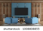 home cinema room with tv... | Shutterstock . vector #1008808855