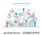 successful business project.... | Shutterstock .eps vector #1008810595