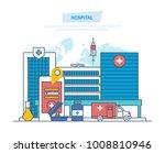 hospital building  healthcare...   Shutterstock .eps vector #1008810946