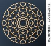 laser cutting mandala. golden... | Shutterstock .eps vector #1008813946