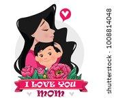 mother's love.mom's hug. mom... | Shutterstock .eps vector #1008814048
