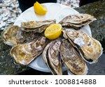 oyster with lemon juice   Shutterstock . vector #1008814888