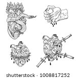 evil valentine's day. bleeding  ... | Shutterstock .eps vector #1008817252