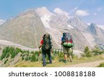 the tour du mont blanc is a... | Shutterstock . vector #1008818188